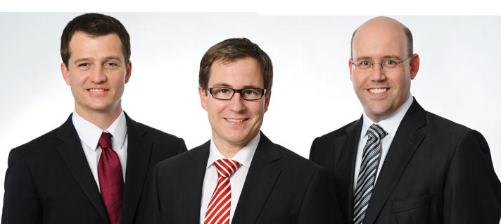 Rechtsanwälte Wido Fischer, Mike Kohler und Claudio Fuchs
